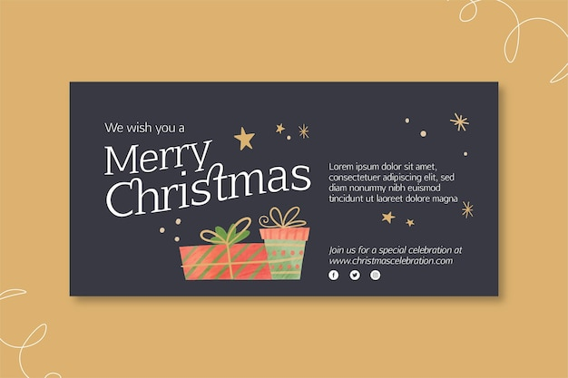 Christmas banner concept