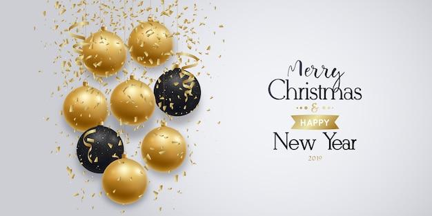 Рождественский баннер. праздничная поздравительная открытка.
