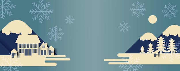 Christmas banner or party invitation background. merry christmas vector greeting card, banner, poster, presentation vector illustration