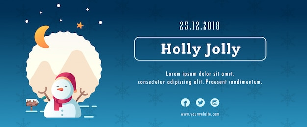 Christmas banner template mockup