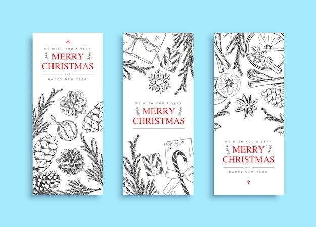 Christmas banner template set
