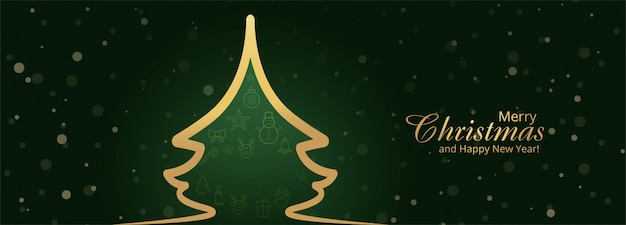 Christmas banner template with ornaments