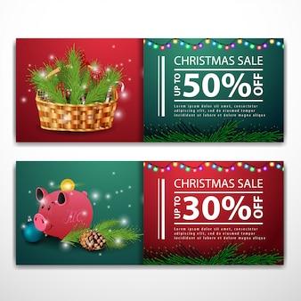 Christmas banner templates