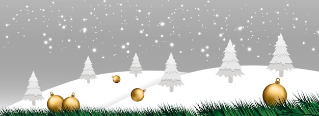 Christmas banner vector illustration