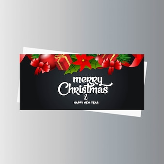 Christmas banner with elegant decoration