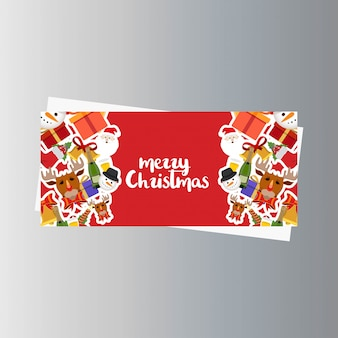 Christmas Banner with Elegant Decoration