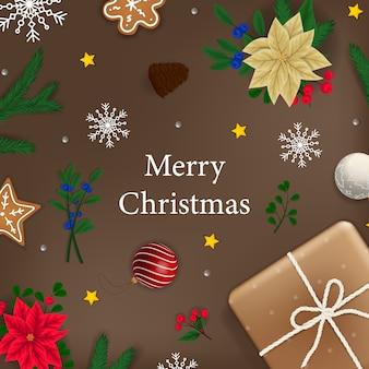 Рождественский баннер xmas фон