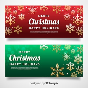 Christmas banners in flat design