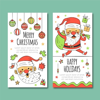 Christmas banners in hand drawn