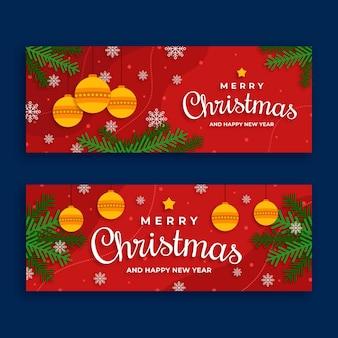 フラットなデザインのクリスマスバナー