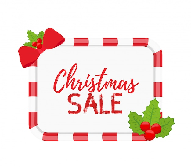 Christmas banners for sale with holly