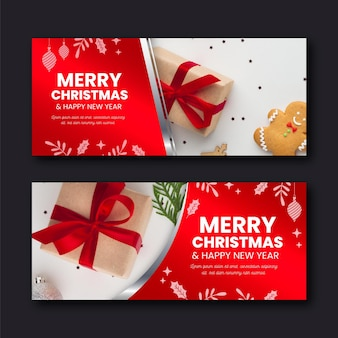 Christmas banners template
