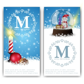 Christmas banners templates