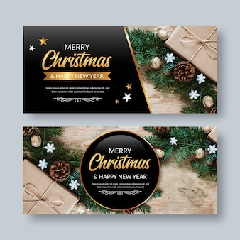 Christmas banners with image