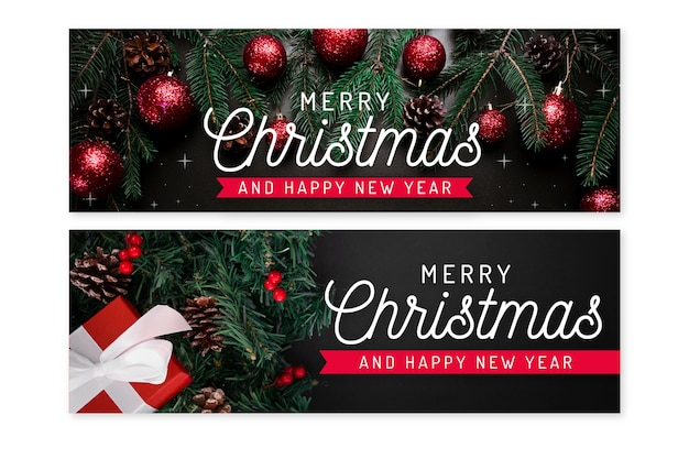 Christmas banners with photo