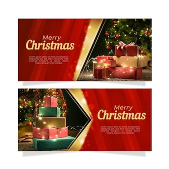 Рождественские баннеры с фото