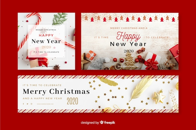Merry Christmas And Happy New Year 2020 Email Banner Merry Christmas 2020 Images | Free Vectors, Stock Photos & PSD