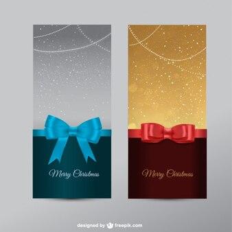 Рождественские баннеры с лентами