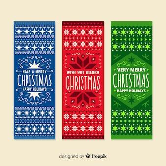 Christmas banners Free Vector