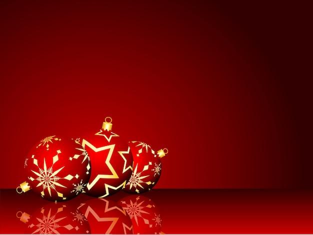 Christmas bauble background Premium Vector