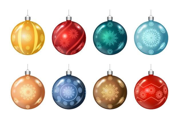 Christmas bauble gradient set