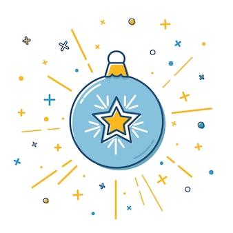 フラットスタイルのクリスマス安物の宝石