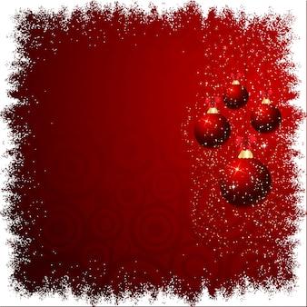 Рождественские шары на снежном фоне