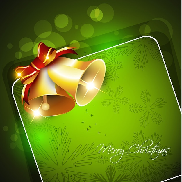 Christmas bell green template