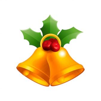 Christmas bell vector illustration