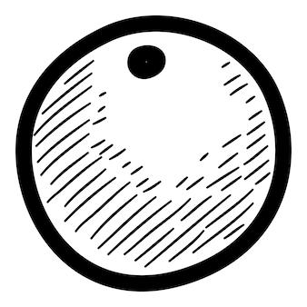クリスマスベリーのアイコン。手描きとwebデザインのクリスマスベリーベクトルアイコンの概要図
