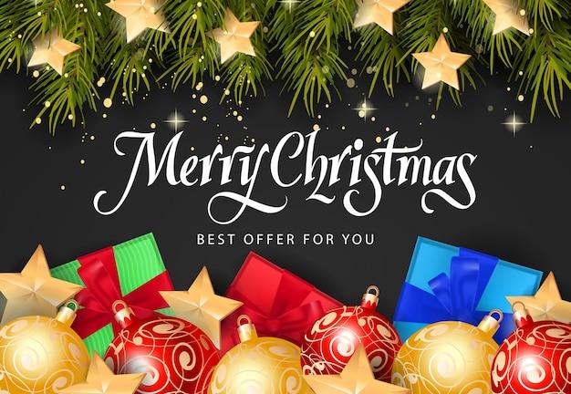 Christmas best offer inscription