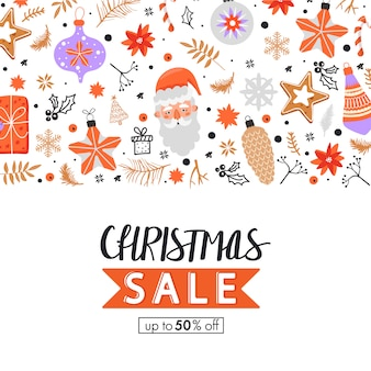 Christmas big sale banner.