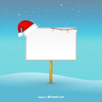Рождество рекламный щит шаблон
