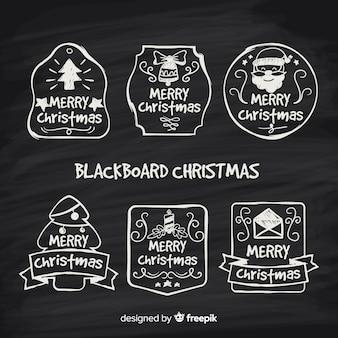 Christmas blackboard stamp pack