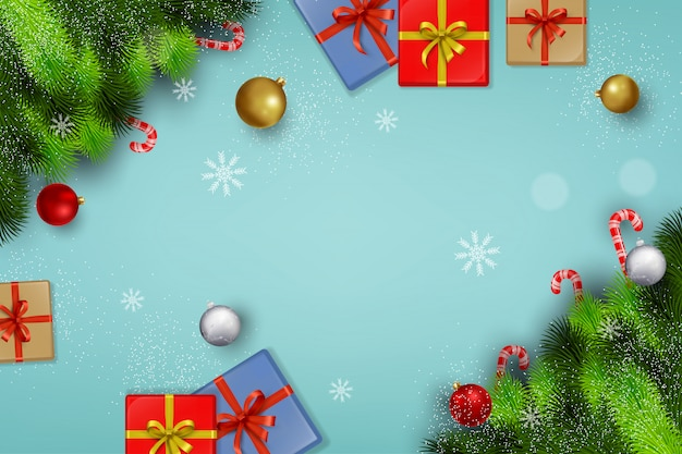 Christmas blank background