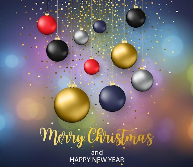 安物の宝石とクリスマスのぼやけた背景