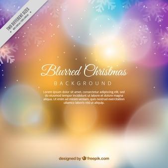 Рождество размытым фоном