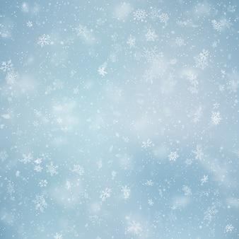 Christmas blurred snowfall