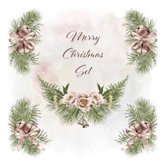 Christmas boho decorations set