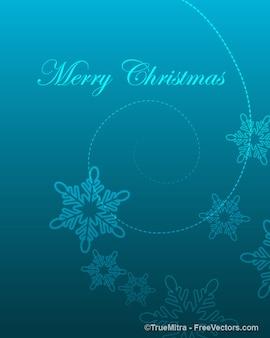 Natale bokeh modello con i fiocchi di neve