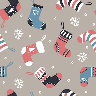 クリスマスのブーツパターン