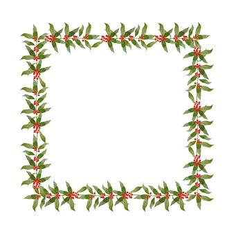 ベリーの枝とクリスマスの国境