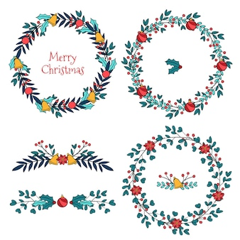 Christmas borders and frames collection