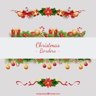 Christmas borders Free Vector