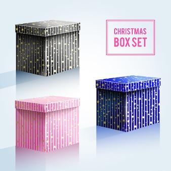 Christmas boxes set