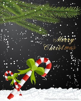Christmas branches greeting card