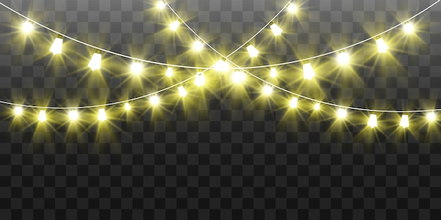 Christmas bright, beautiful lights,  elements. glowing lights for design of xmas greeting cards. garlands, light christmas decorations.