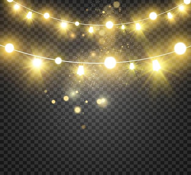 Рождественские яркие красивые огни