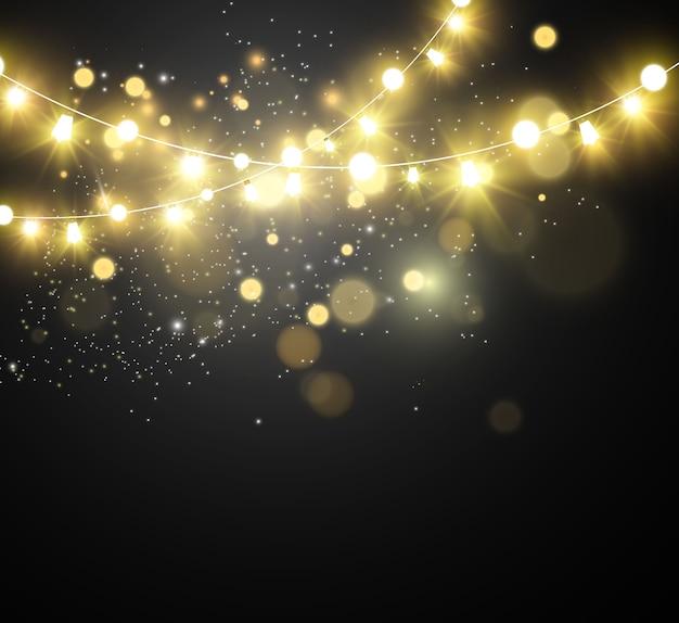 クリスマス明るいイラスト