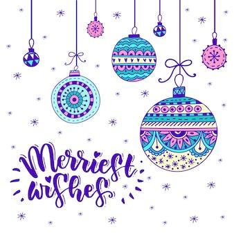 Christmas brush lettering